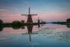 Fantastic evening in Kinderdijk few weeks ago (Pastel Frames Photography) Tags: kinderdijk netherlands holland travel travelphotography sightseeing landscape landscapephotography canon5dmark3 canon1635mm sky sunset water reflections mills windmill