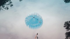 370 - The Need to Fly (Katrina Y) Tags: feet feetinframe parachute manipulation photoshop 2017 365project levitation surreal selfportrait surrealphotography conceptual creative concept cinematic sky mood artsy artistic