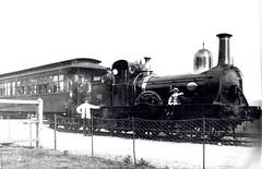 "Weston, Clevedon & Portishead Railway (UK) - WCPR Class B3 2-2-2WT steam locomotive ""Weston"" (Sharp Stewart & Co, Glasgow 1707 / 1866) (HISTORICAL RAILWAY IMAGES) Tags: steam locomotive glasgow 1866 sharpstewart 222 train portishead wcpr westonclevedonportisheadrailway clerestorycoachukstock 19thcentury"