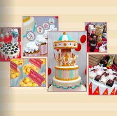 Vintage Carnival Collage (sweetsuccess888) Tags: sweetsuccess carnival vintagecarnival carousel cake carnivalparty eventsstyling desserts philippines desserttable dessertbar dessertbuffet