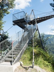 Il Spir Observation Tower, Flims-Conn, Grisons, Switzerland (jag9889) Tags: 2017 20170716 aerialview anteriorrhine architecture building ch cantonofgraubunden europe flem flims gr gorge grandcanyonderschweiz graubunden grisons helvetia house imboden kantongraubünden observationtower outdoor outlook platform reinanteriur rheinschlucht rhinegorge rock ruinaulta schweiz structure suisse suiza suizra svizzera swiss swissgrandcanyon switzerland tower vorderrhein jag9889 panoramic viewing