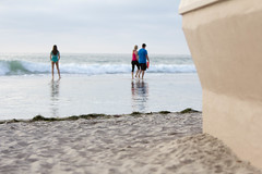 High Tide: La Jolla Shores (Photos By Clark) Tags: california canon60d canon70200f28isl cities lajolla locale location northamerica places sandiego senttojennie unitedstates where water sand hightide wall pacific lightroom