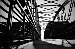 field of view (HansEckart) Tags: blackandwhite bw bridge hamburg city urban urbanarte monochrome perspective view shadow contrast streetphotography