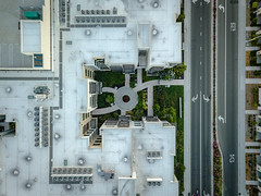 Paths (zumipin) Tags: outdoors drone quadcopter aerial suburban california aligned santaclara
