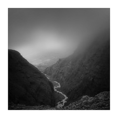 At The Precipice (Peter Hill1) Tags: peterhill iceland landscape fog rain mountains mountain monochrome river blackwhite canoneos5dmarkii canontse24mmf35l