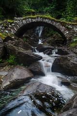 Allt Da Ghob Waterfall (daedmike) Tags: waterfall scotland glenlyon bridge stone packhorse rocks framed perthshire alltdaghob longexposure