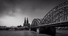 Cologne Cathedral and Hohenzollern bridge (mary_hulett) Tags: cologne rivercruise hohenzollernbridge cathedral travel 2017 viking rhineriver colognecathedral europe stpeterschurch bridge