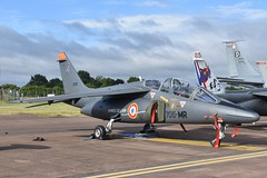 E115. French Air Force Dassault-Breguet/Dornier Alpha Jet (Ayronautica) Tags: 2017 july dassaultbreguetdornieralphajet e115 aviation riat egva fairford armeedelair frenchairforce trainer military airshow ayronautica