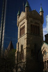 Old and New (stevebirk_) Tags: toronto building tower church architecture downtown kingst