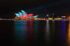 Vivid Opera House (mclcbooks) Tags: sydneyoperahouse sydney harbor water bay ocean lights art vividsydney 2017 ashbolland audiocreatures australia nsw night