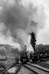 Foxfield 1 (Nigel Valentine) Tags: foxfield steam colliery industrial smoke clag black white