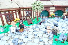 The Green Dragon Inn (-Balbo-) Tags: lego moc shire auenland herr der ringe hdr lotr lordoftherings the green dragon inn hobbit farmer maggot frodo old bilbo creation bauwerk balbo