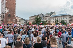 IMGP7312 (TomaszMazon) Tags: protest democracy krakow poland court antigovernment crowd