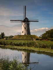 8A0A4145 (ct_purley) Tags: belgium bruges damme real canal windmill trees
