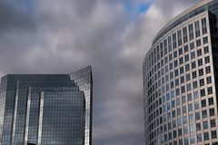 Shoot in Square motion (Greenneck) Tags: clouds motionblur nd 10stop symmetry symmetrical geometrical abstract urban skyline citylife bellevue architectureedit
