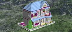 StephanieHouse19 (flight_claudia) Tags: lego creator expert building modular friends stephanies house moc digital design