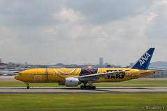 Itami Airport 2017.7.19 (10) JA743A / C-3PO ANA JET (B777-200) (double-h) Tags: omd em1markii omdem1markii lumixgxvariopz45175mmf4056asphpowerois rjoo itm osakaairport itamiairport 大阪空港 伊丹空港 airplane 飛行機 伊丹スカイパーク itamiskypark ja743a ana 全日空 b767 b767300 specialpainting 特別塗装 c3po starwars スターウォーズ スター・ウォーズ