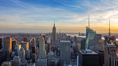 New York, Top of the Rock (m.gallenkamp) Tags: newyork nyc ny topoftherock stunningview city cityscapes urban stadtlandschaften stadt sunset sonnenuntergang usa