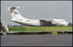 EP-SFB - Oostende Bruges (OST) 13.05.2001 (Jakob_DK) Tags: 2001 ost ebos oostende ostend–brugesinternationalairport ostendairport ilyushin ilyushin76 ilyushin76td il76 il76td candid cargo sfn safiran safiranairlines