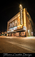 Jefferson Theater-2 (jesmo5) Tags: theater old cinema movie movies beaumont texas moorecreativedesign highdynamicrange architecture art artist reflection night nightscape long exposure twinkle street buildings building downtown marquee jefferson