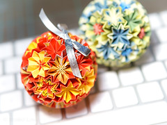Kusudama (bobo.ling) Tags: kusudama origami macro