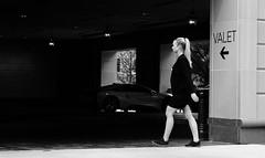 Dark Recess (burnt dirt) Tags: houston texas downtown city street sidewalk crosswalk girl woman people person group crowd asian latina blonde brunette sexy cute longhair shorthair ponytail heels stilettos boots dress jeans shorts skirt stockings friend athlete sunglasses glasses office building worker streetphotography portrait fujifilm xt1 bw tattoo young model