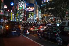 Shibuya(渋谷) night (kasa51) Tags: night cityscape taxi light people sign shibuya tokyo japan shibuyacrossing
