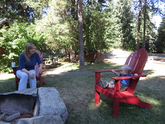 big boy in the red chair (carolyn_in_oregon) Tags: troutlake washington jimmyandreasweddingweekend me jacob