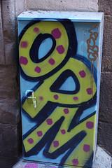 Street Scenes, Barcelona (Annette Rumbelow) Tags: annetterumbeowwilson barcelona streetscenes art graffiti streetart