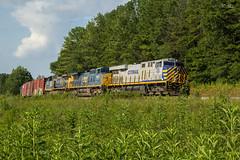 CSX Q539 at Pepples Valley Rd (travisnewman100) Tags: csx train railroad freight manifest es44ac ooc etowah subdivision atlanta division q539 cartersville georgia ge ac44cw c409w yn2 yn3