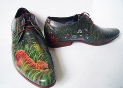 tiger 2 (BenChisnallShoes) Tags: cool different shoes shoe handpainted bespoke fashion streetwear personalised leatherwear footwear painted individual unique angelus angeluspaints paint leather painting art tropical rainforest nature jungle forest wild rousseau henrirousseau surprised nationalgallery nationalgallerylondon tiger tigers 1891 tigerinatropicalstorm primitivism naive naïve artist french paris formal dressshoes black