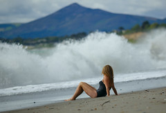 Girl and wave (Vladimir Zakharov Dublin) Tags: splash seascape seaside seafront sea irishsea girl women nu
