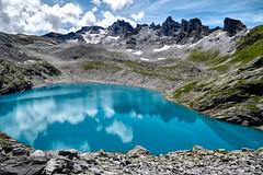 Wildsee - Pizol (torremundo) Tags: bergsee berge seen landschaft pizol pizolgebiet spiegelung wolken wildsee