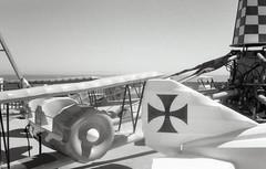 Airplanes (bad.moon) Tags: olympusxa kodak400tx professionallydeveloped santacruzca amusementpark ocean airplanes rangefinder 35mmfilm bw boardwalk funhouse