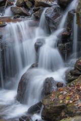 Smokey Waterfall (slcoffey5) Tags: waterfall fall leaves smokeymountain