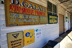 D. Galati, Automotive Engineer. (Ian Ramsay Photographics) Tags: johnsriver newsouthwales australia abandoned johnsriverservicecentre automotive engineer