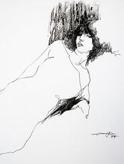 P1016782 (Gasheh) Tags: art painting drawing sketch portrait girl figure line pen gasheh 2017