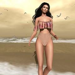 Prism Maia Bikini by Journey,Yay (๓คเค๓ςкєєภคภ) Tags: 3d maiamckeenan prismdesigns bikini beach seagulls fashion tableauvivant