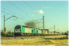 Fumata (440_502) Tags: 335 009 004 alpha trains transfesa rail ikea megacombi mega combi euro 4000 alfarelos vilar formoso constantí valladolid universidad