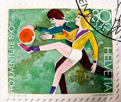 great stamp Helvetia 80c + 40c (girls playing football / soccer)  Switzerland timbres Suisse Swiss franco Schweiz Briefmarke porto francobolli Svizzera bollo selos suiza 邮票瑞士 yóupiào Ruìshì марка Швейцария timbre poste stamp маркица selo franco bollo post (stampolina, thx for sending stamps! :)) Tags: stamps helvetia swiss switzerland schweiz postage porto briefmarke postetimbre timbres francobolli bollo bolli sello selo timbre sellos briefmarken 邮票 yóupiào марка почтоваямарка revenue пощенскиразноски frimærker templite ταχυδρομικάτέλη 送料 우편요금 poštarina paštoišlaidos wysyłka frimärken маркица pečiatky ค่าไปรษณีย์ pullar poštovné bélyegek postes frimaerke timbreposte postestimbres green grün أخضر 绿色 зеленый 緑 verts yeşil verde हरा สีเขียว πράσινοσ zöld 녹색 zielony 切手 timbru postapulu pulu timbresposte football soccer fussball fusball sport playing ball women girls