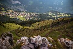 On Top of the Mountain (Nicolas Gujer) Tags: männlichen grindelwald lauterbrunnen eiger thunderstorm wengen