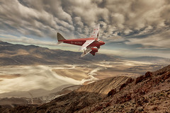 DeHavilland DH90 Dragonfly-2 (brian_stoddart) Tags: aircraft clouds sky aviation landscape flying remote old vintage colour composite