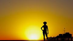 Watching-You (V4D3R_97) Tags: sunset gta gtav santa monica pier girl silhouette california los angeles