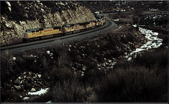 Soldiering Onwards. (-Metal-M1KE-) Tags: wasatch wasatchmountains pricecanyon utah soldiersummit unionpacific sd70m up