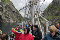 Christian Radich in Trollfjorden, Norway (Ingunn Eriksen) Tags: christianradich tallship trollfjorden hadsel nordland norway mountain fjord fiord norskekysten nikond750 nikon vesterålen lofoten