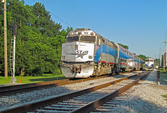 Meeting of the Stars (mikeball1374) Tags: musiccitystar nashvilleandeastern nashville tennessee f40 commuter passenger train trainphotography transportation trains locomotive cowl railfanning railroad shortline