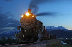 UTAH SUNSET (dayvmac) Tags: steam steamlocomotive trains railways hebervalley utah locomotives