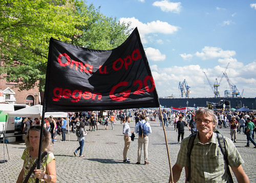 "G20 Protest Hamburg  ""Welcome to hell"" Demonstration 2017-07-06"