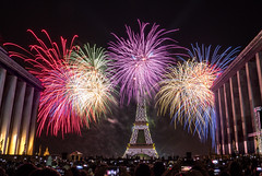 Bastille Day (magma_dou) Tags: paris tour eiffel effeiltower bastille day 14juillet night nuit trocadero feu dartifice fire musee monument capitale france europe fete nationale