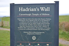 Carrawburgh - Temple of Mithras, Hadrian's Wall, Northumberland. (greentool2002) Tags: english heritage england sign roman britain carrawburgh temple mithras hadrians wall northumberland brocolitia
